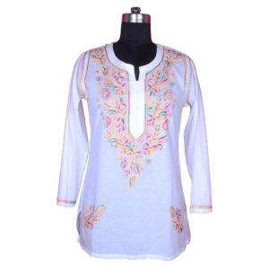 cotton chicken work kurtis