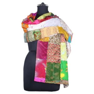 Vintage Patch Style Silk Stole Scarves