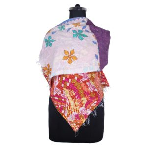 Kantha Work Cotton Scarf