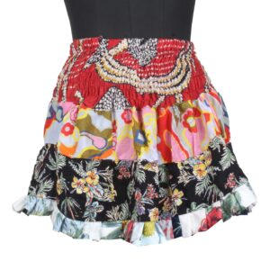 Patch Work Mini Skirt